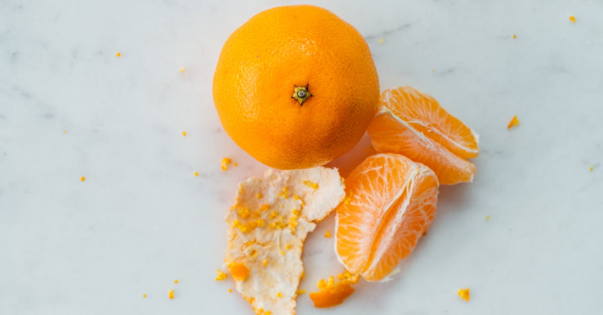 A slice of orange fruit